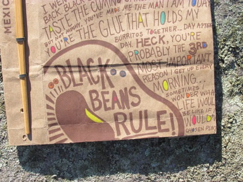 Detail of bean bag book
